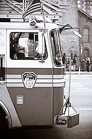 Fire Truck on the Street in New York City
