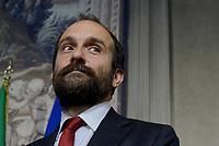 Roma, 12 Aprile 2018<br /> Partito Democratico<br /> Matteo Orfini<br /> Secondo giro di Consultazioni per la formazione del Governo