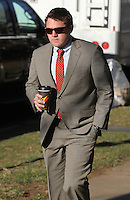 CHARLOTTESVILLE, VA - FEBRUARY 15: Former UVa lacrosse player William Bolton testified on the witness stand during the George Huguely trial. Huguely was charged in the May 2010 death of his girlfriend Yeardley Love. She was a member of the Virginia women's lacrosse team. Huguely pleaded not guilty to first-degree murder. (Credit Image: © Andrew Shurtleff