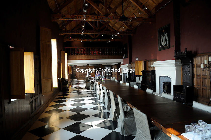 Great hall of the castle at Treaty Port Vineyard in Yantai, Shandong province, China. 06-Nov-2010