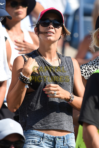 FLUSHING NY- AUGUST 27: Rebecca Hewitt is seen watching Lleyton Hewitt Vs Thomas Berdych on Arthur Ashe stadium at the USTA Billie Jean King National Tennis Center on August 27, 2014 inFlushing Queens. <br /> CAP/MPI/mpi04<br /> &copy;mpi04/MediaPunch/Capital Pictures