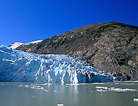 Overwhelming Portage Glacier that is Over 100 Feet High and Five Miles Deep Alaska USA
