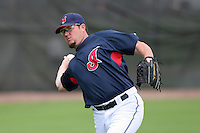 Cleveland Indians Matt Miller during practice before a Grapefruit League Spring Training game at the Chain of Lakes Complex on March 16, 2007 in Winter Haven, Florida.  (Mike Janes/Four Seam Images)