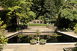 Winterthur.Alfred I. DuPont Residence and perennial gardens. View of reflecting pool.