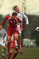November 14, 2008: University of Michigan's Adam Keller(#2) and Indiana University's Eric Alexander (#7) make contact during the Second round of the 2008 Big Ten Tournament in Madison Wisconsin.