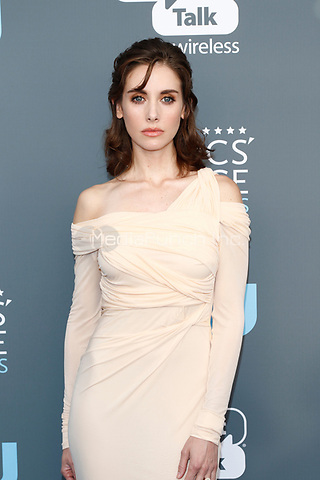 Alison Brie attends the 23rd Annual Critics' Choice Awards at Barker Hangar in Santa Monica, Los Angeles, USA, on 11 January 2018. - NO WIRE SERVICE - Photo: Hubert Boesl/dpa /MediaPunch ***FOR USA ONLY***