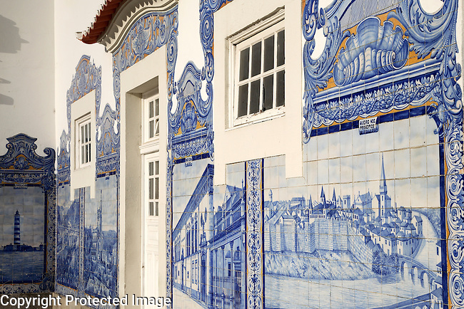 Details of Tiles at Aveiro Railway Train Station; Portugal