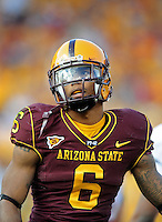 Nov. 28, 2009; Tempe, AZ, USA; Arizona State Sun Devils wide receiver (6) Kyle Williams against the Arizona Wildcats at Sun Devil Stadium. Arizona defeated Arizona State 20-17. Mandatory Credit: Mark J. Rebilas-