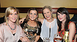 Michelle McDaniel, Judy and Juls O'Rourke and Emma McManus pictured at the Ham Sandwich gig in McHugh's. Photo: Colin Bell/pressphotos.ie