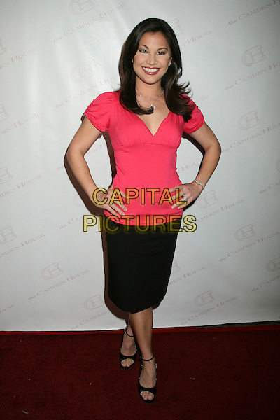 "VICTORIA RECA-O.The 2nd Annual ""30 Under 30 Awards"" at The Camden House, Beverly Hills, California, USA..May 3rd, 2007.full length pink top black skirt hands on hips.CAP/ADM/BP.©Byron Purvis/AdMedia/Capital Pictures"