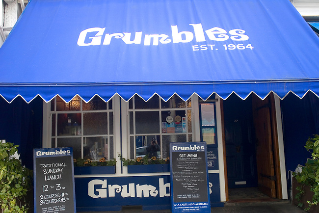 Exterior, Grumbles Restaurant, Belgrovia, London, Great Britain, Europe