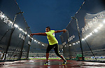 SHANGHAI, CHINA - MAY 19:  Aretha D. Thurmond of USA competes the Women DiscusThrow during the Samsung Diamond League on May 19, 2012 at the Shanghai Stadium in Shanghai, China.  Photo by Victor Fraile / The Power of Sport Images