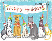 Kate, CHRISTMAS ANIMALS, WEIHNACHTEN TIERE, NAVIDAD ANIMALES, paintings+++++Christmas page 81 #,GBKM216,#xa# ,dog,dogs