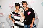 Nerea Garmendia, Jesus Olmedo and his Dog attends to the photocall of the celebration of the 2nd Aniversary of By Nerea Garmendia at COAM in Madrid. June 06. 2016. (ALTERPHOTOS/Borja B.Hojas)