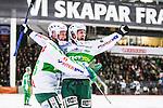 V&auml;ster&aring;s 2014-03-08 Bandy SM-semifinal 4 V&auml;ster&aring;s SK - Hammarby IF :  <br /> V&auml;ster&aring;s Tobias Holmberg jublar med V&auml;ster&aring;s Oscar Gr&ouml;hn efter sitt 3-2 m&aring;l<br /> (Foto: Kenta J&ouml;nsson) Nyckelord:  VSK Bajen HIF jubel gl&auml;dje lycka glad happy