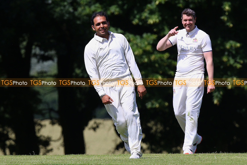 Hornchurch Athletic players celebrate a wicket during Hornchurch Athletic CC (fielding) vs Writtle CC, T Rippon Mid Essex Cricket League Cricket at Coronation Playing Field on 2nd July 2016