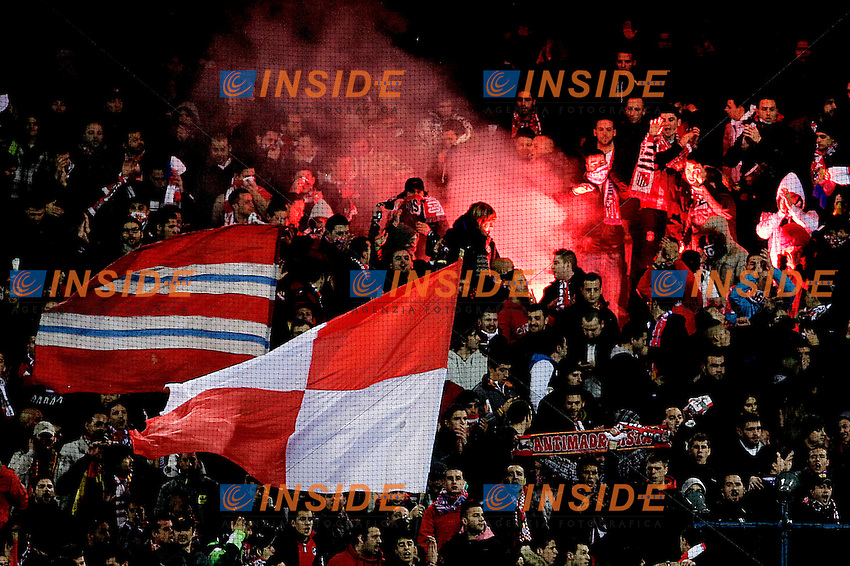 Atletico de Madrid's supporters during Europa League match.February 23,2012. (ALTERPHOTOS/Acero) .Atletico Madrid Lazio Europa League.Italy Only