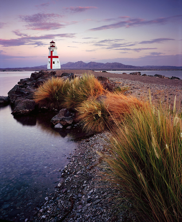 Dedicated in September 2006, the replica East Quoddy Lighthouse sits at the intersection of Windsor Beach and Bridgewater Channel in Lake Havasu City, Arizona