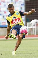 Lorenzo Insigne  <br /> ritiro precampionato Napoli Calcio a  Dimaro 13<br /> Luglio 2015<br /> <br /> Preseason summer training of Italy soccer team  SSC Napoli  in Dimaro Italy July 13, 2015