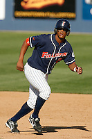 Khris Davis of the Cal State Fullerton Titans during a game against the Arizona Wildcats at Goodwin Field on February 18, 2007 in Fullerton, California. (Larry Goren/Four Seam Images)