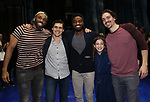 Cast members making their Broadway debuts  during the Actors' Equity Opening Night Gypsy Robe Ceremony honoring Jeremy Davis for 'Frozen' at the St. James Theatre on March 22, 2018 in New York City.