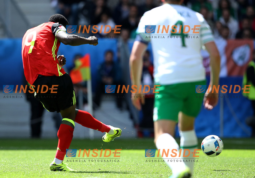 Romelu Lukaku Belgium scoring the goal of 3-0<br /> Bordeaux 18-06-2016 Nouveau Stade Footballl Euro2016 Belgium - Republic of Ireland  / Belgio - Irlanda Group Stage Group E. Foto Matteo Ciambelli / Insidefoto