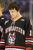 Brodie Reid (Northeastern - 15) - The visiting Northeastern University Huskies defeated the University of Massachusetts-Lowell River Hawks 3-2 with 14 seconds remaining in overtime on Friday, February 11, 2011, at Tsongas Arena in Lowelll, Massachusetts.