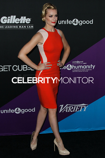 CULVER CITY, LOS ANGELES, CA, USA - FEBRUARY 27: Beth Behrs at the 1st Annual unite4:humanity Presented by unite4:good and Variety held at Sony Pictures Studios on February 27, 2014 in Culver City, Los Angeles, California, United States. (Photo by Xavier Collin/Celebrity Monitor)