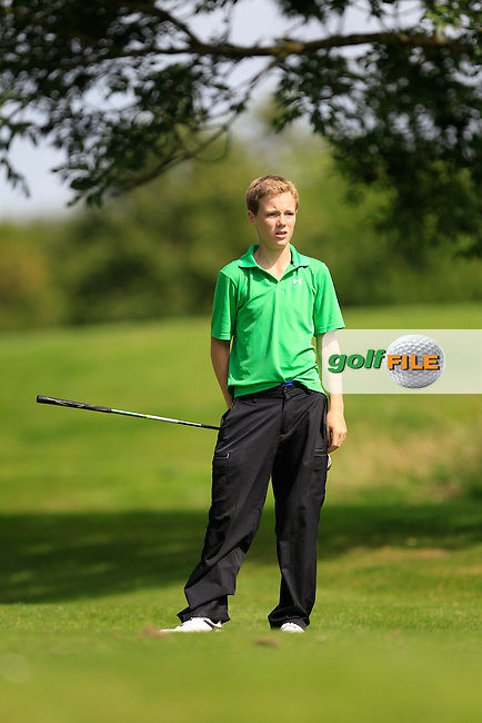 Sean Whelan Barrett (Dungarvan) on the 11th tee during the Irish Boys Under 15 Amateur Open Championship Round 2 at the West Waterford Golf Club on Wednesday 21st August 2013 <br /> Picture:  Thos Caffrey/ www.golffile.ie