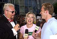 CMT's Greg &amp; Katie are joined by Cledus T Judd at the first ever CMT Flameworthy Video Music Awards at the Gaylord Entertainment Center in Nashville Tennesee. 6/12/02<br /> Photo by Rick Diamond/PictureGroup