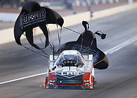 Oct 28, 2016; Las Vegas, NV, USA; NHRA funny car driver Tim Wilkerson during qualifying for the Toyota Nationals at The Strip at Las Vegas Motor Speedway. Mandatory Credit: Mark J. Rebilas-USA TODAY Sports