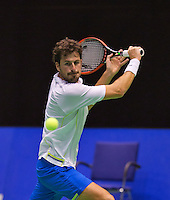 December 20, 2014, Rotterdam, Topsport Centrum, Lotto NK Tennis, Robin Haase (NED) <br /> Photo: Tennisimages/Henk Koster