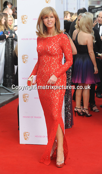 NON EXCLUSIVE PICTURE: PAUL TREADWAY / MATRIXPICTURES.CO.UK<br /> PLEASE CREDIT ALL USES<br /> <br /> WORLD RIGHTS<br /> <br /> Kate Garraway attends the House of Fraser British Academy Television Awards at Theatre Royal in London.<br /> <br /> MAY 10th 2015<br /> <br /> REF: PTY 151461