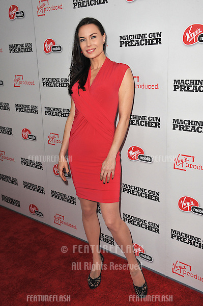 "Actress Jon Mack at the Los Angeles premiere of ""Machine Gun Preacher"" at the Academy of Motion Picture Arts & Sciences Theatre, Beverly Hills..September 21, 2011  Los Angeles, CA.Picture: Paul Smith / Featureflash"