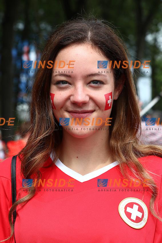 Tifosi Svizzera Supporters <br /> Lens 11-06-2016 Stade Bollaert-Delelis football Euro2016 Albania - Switzerland  / Albania - Svizzera Group Stage Group A. Foto Panoramic / Insidefoto