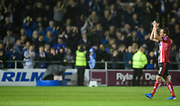 Lincoln City's Harry Toffolo applauds the fans at the final whistle<br /> <br /> Photographer Chris Vaughan/CameraSport<br /> <br /> The Carabao Cup Second Round - Lincoln City v Everton - Wednesday 28th August 2019 - Sincil Bank - Lincoln<br />  <br /> World Copyright © 2019 CameraSport. All rights reserved. 43 Linden Ave. Countesthorpe. Leicester. England. LE8 5PG - Tel: +44 (0) 116 277 4147 - admin@camerasport.com - www.camerasport.com