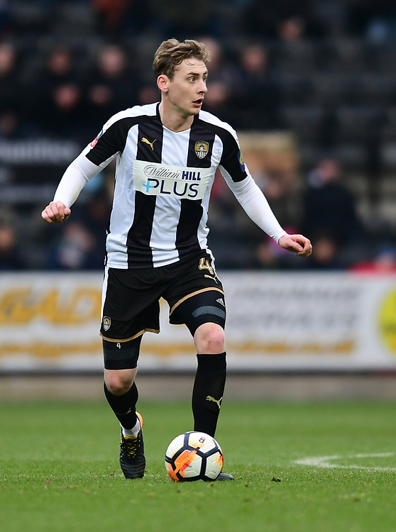 Notts County's Elliott Hewitt<br /> <br /> Photographer Chris Vaughan/CameraSport<br /> <br /> FA Cup Second Round - Notts County v Oxford City - Saturday 2nd December 2017 - Meadow Lane - Nottingham<br />  <br /> World Copyright &copy; 2017 CameraSport. All rights reserved. 43 Linden Ave. Countesthorpe. Leicester. England. LE8 5PG - Tel: +44 (0) 116 277 4147 - admin@camerasport.com - www.camerasport.com