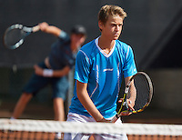 August 9, 2014, Netherlands, Rotterdam, TV Victoria, Tennis, National Junior Championships, NJK,  boys doubles<br /> Photo: Tennisimages/Henk Koster