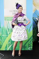 5/8/2010.Blossom Hill Ladies Day. Expose Presenter Aisling O Loughlin is pictured at the Blossom Hill Ladies Day at the Fáilte Ireland Dublin Horse Show at RDS. Picture James Horan/Collins Photos