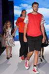 Fashion designer Debbie Holden walks runway with model at the close of her Camellia Couture Spring Summer 2020 runway show, for The Society Fashion Week Spring Summer 2020 during New York Fashion Week, on September 7, 2019.