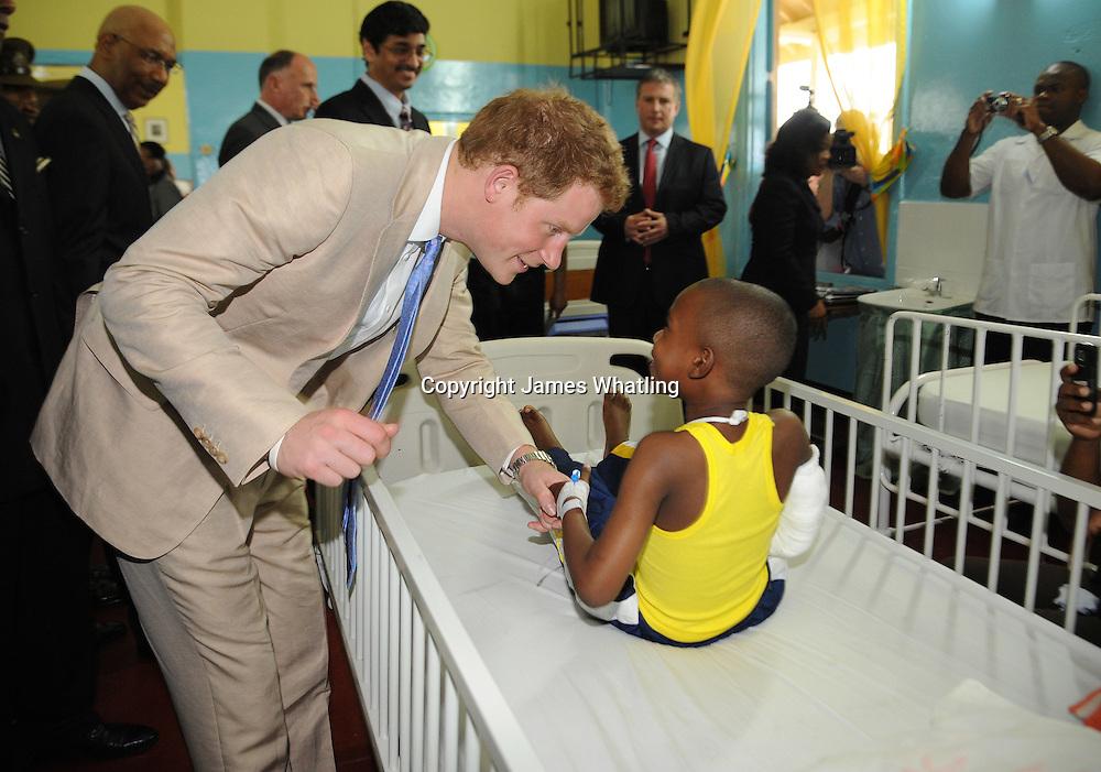 Prince Harry visits Bustamente Children's Hospital | James