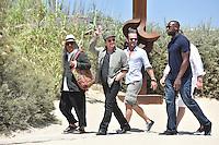 Bono arrives at Club 55 in Saint-Tropez - France