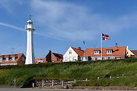 Leuchtturm in R&oslash;nne, Insel Bornholm, D&auml;nemark, Europa<br /> Lighthouse, Roenne, Isle of Bornholm, Denmark