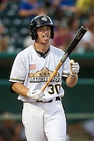 San Antonio Missions second baseman Cory Spangenberg (30) in action in the Texas League baseball game against the Frisco Roughriders on August 22, 2013 at the Nelson Wolff Stadium in San Antonio, Texas. Frisco defeated San Antonio 2-1. (Andrew Woolley/Four Seam Images)