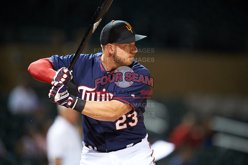 Surprise Saguaros Mitch Garver (23), of the Minnesota Twins organization, during the Bowman Hitting Challenge on October 8, 2016 at the Salt River Fields at Talking Stick in Scottsdale, Arizona.  (Mike Janes/Four Seam Images)