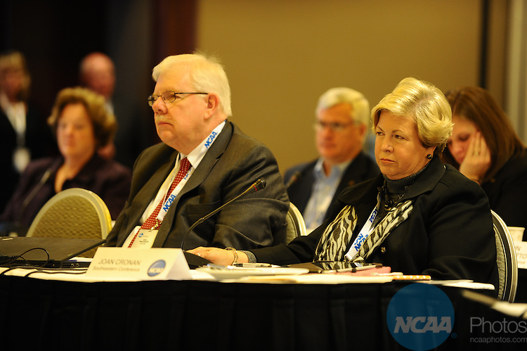 12 JAN 2012:  The NCAA Division I Leadership Council held during the 2012 NCAA Convention held at the JW Marriott and Indianapolis Convention Center in Indianapolis, IN.  Joshua Duplechian/NCAA Photos.Pictured: