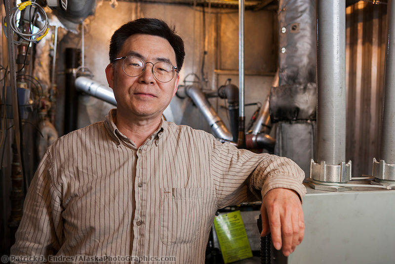 Portrait of Professor at UAF Energy Department, Fairbanks.