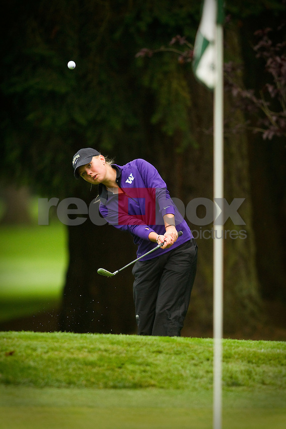 UW Golfer Brittany Tallman. Edean Ihlanfeldt Invitational golf tournament at the Tacoma Country and Golf Club. (Photo by Rob Sumner/ Red Box Pictures)