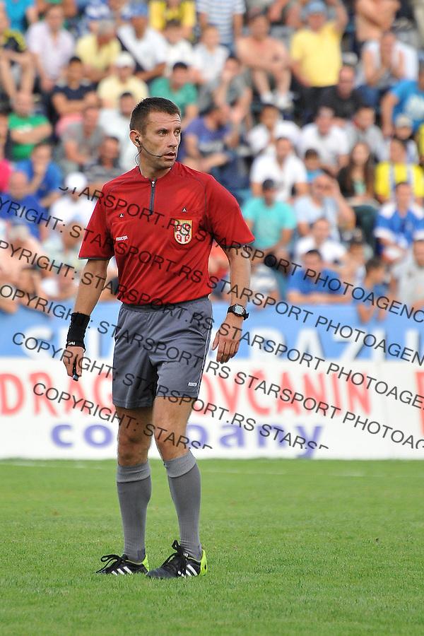 Fudbal Super liga season 2014-2015<br /> Novi Pazar v Rad<br /> Glavni sudija meca Aleksandar Vasic<br /> Novi Pazar, 9. 8. 2014<br /> foto: Emir Sadovic/Starsportphoto &copy;