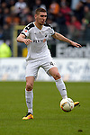 GER - Sandhausen, Germany, March 19: During the 2. Bundesliga soccer match between SV Sandhausen (white) and FC ST. Pauli (grey) on March 19, 2016 at Hardtwaldstadion in Sandhausen, Germany. (Photo by Dirk Markgraf / www.265-images.com) *** Local caption *** Damian Rossbach #4 of SV Sandhausen in action
